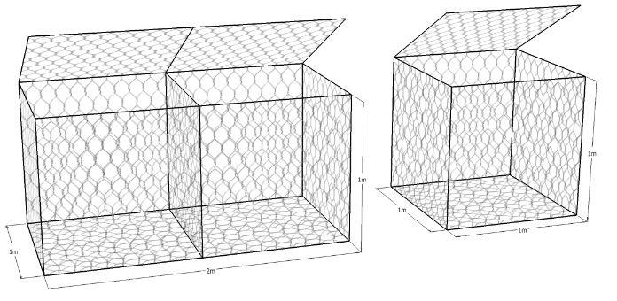 เกเบี้ยน แมทเทรส 10x12 1x2x1 1x1x1